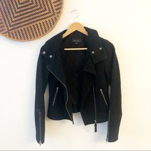 MACKAGE for Aritzia suede lamb skin moto jacket XS